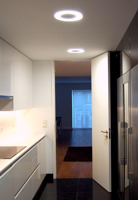 Edifício de habitação, em Lisboa, com projeto de iluminação interior e exterior da Traço de Luz.