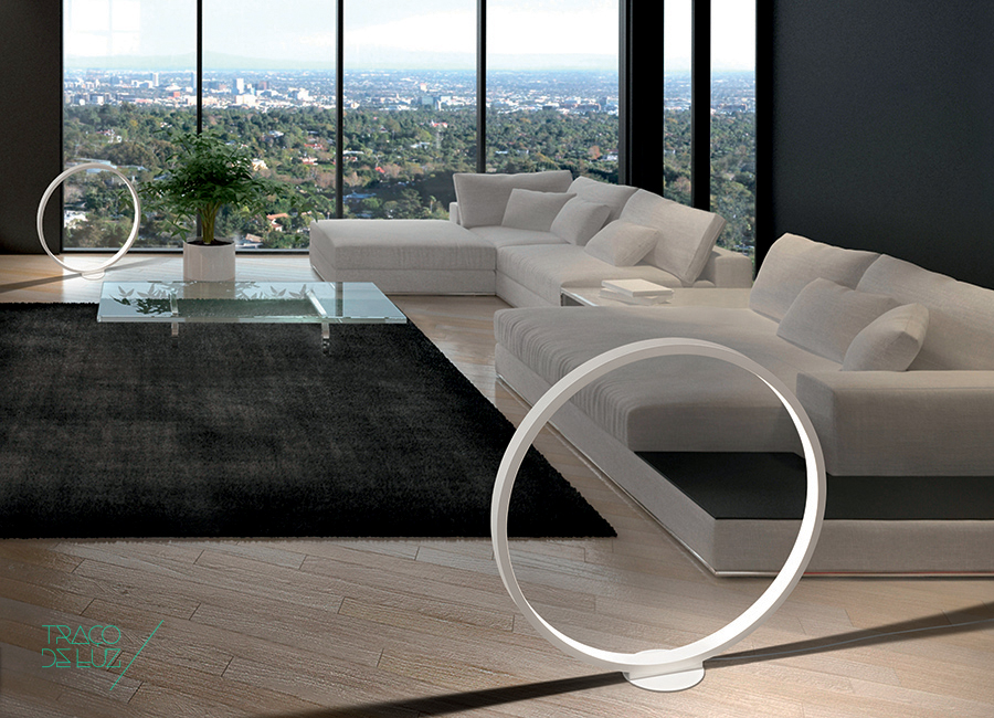 Cini&Nils Traco de Luz Assolo Branco Preto Mate Iluminação Candeeiro Chão Tecto Suspensão Mesa