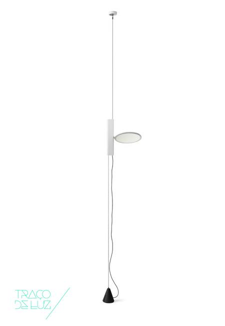 Ok branco, candeeiro de suspensão da marca Flos, na Traço de Luz iluminação, Portugal