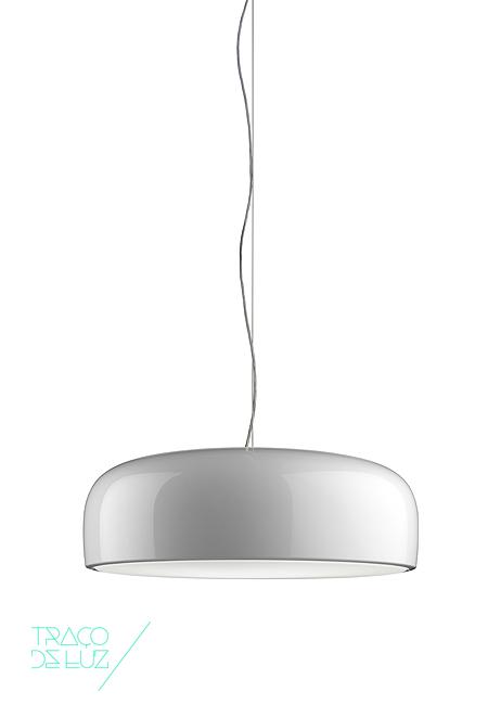 Smithfield branco, candeeiro de teto da marca Flos, na Traço de Luz iluminação, Portugal
