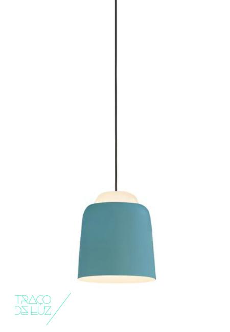 Teodora S1 azul claro, candeeiro de teto da marca Prandina, na Traço de Luz iluminação, Portugal