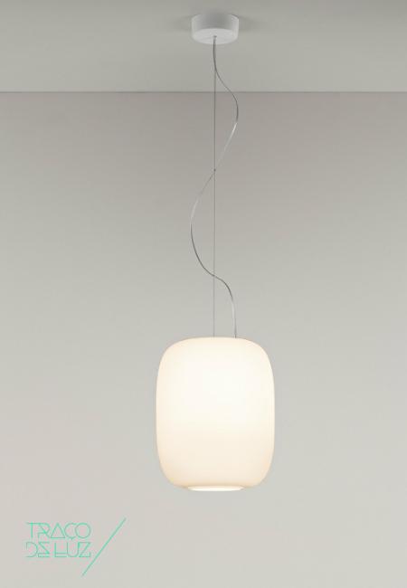 Santachiara S5 branco, candeeiro de teto da marca Prandina, na Traço de Luz iluminação, Portugal