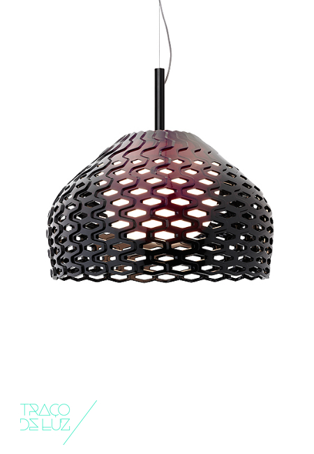 Tatou S2 preto, candeeiro de suspensão da marca Flos, na Traço de Luz iluminação, Portugal