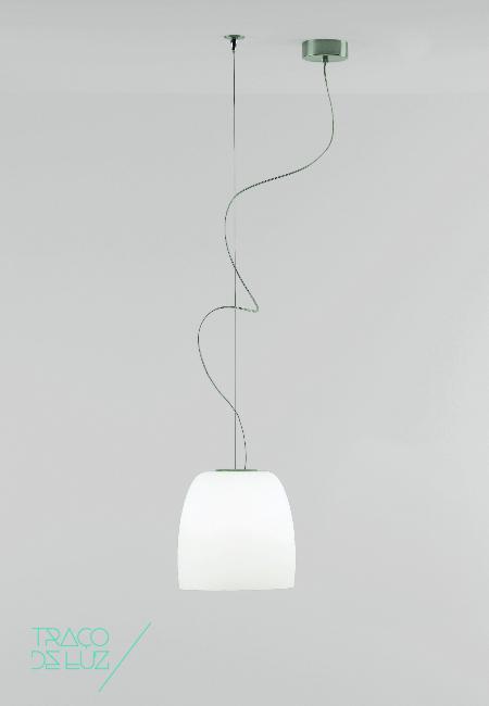 Notte S3 branco, candeeiro de teto da Prandina, na Traço de Luz
