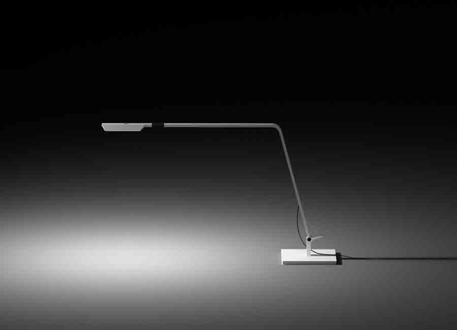 FLEX is a fully adjustable table lamp to facilitate reading. Designed by Ramos & Bassols, it is available in two colours: white lacquer or matt graphite. Dimensions 17x47x65 cm Colour white Light Source LED Delivery Time 3-4 weeks; 1 unity available for delivery whitin 3-5 working days + info For info regarding colours, sizes, and shipping please contact us