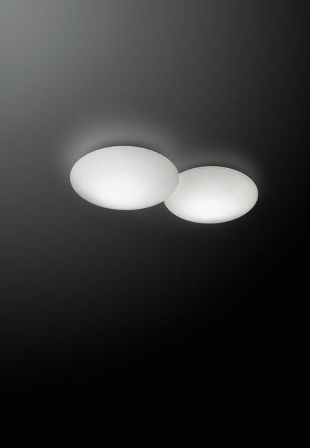 Puck 5430 branco, plafond de teto ou aplique de parede da marca Vibia, na Traço de Luz iluminação, Portugal