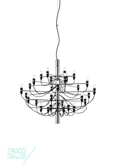 2097/30 cromado, candeeiro de suspensão da marca Flos, na Traço de Luz iluminação, Portugal