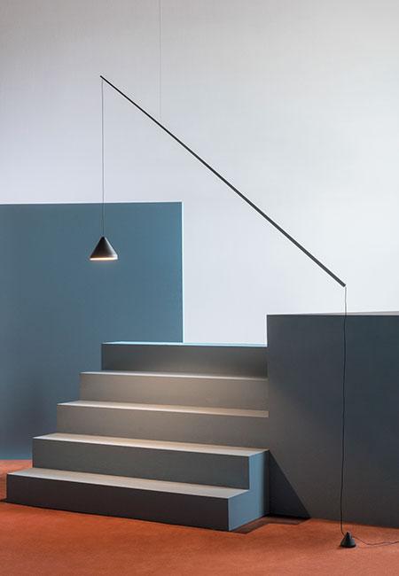 North 5666 preto, candeeiro de suspensão da marca Vibia, na Traço de Luz iluminação, Portugal